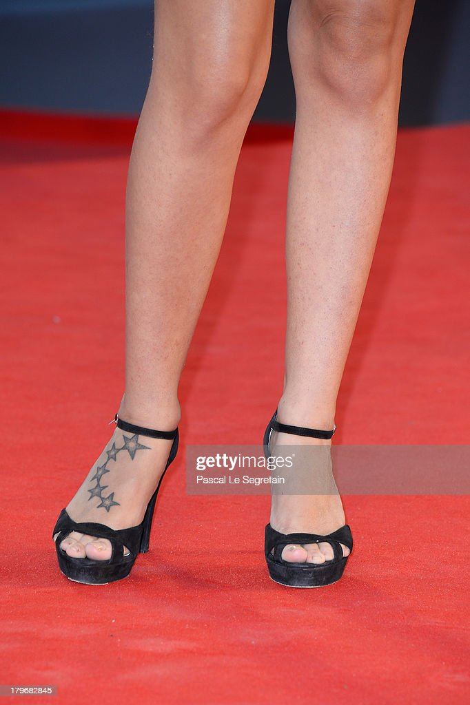 Ilaria De Laurentiis (shoe detail) attends 'Les Terrasses' Premiere during the 70th Venice International Film Festival at Palazzo del Cinema on September 6, 2013 in Venice, Italy.