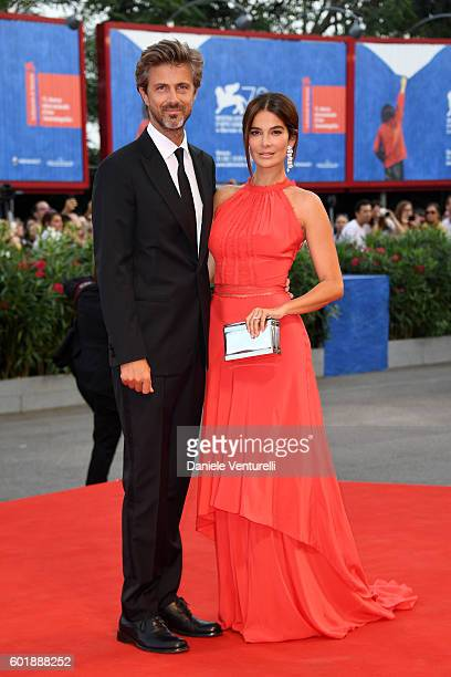 Ilaria Spada and Kim Rossi Stuart attend the closing ceremony of the 73rd Venice Film Festival at Sala Grande on September 10 2016 in Venice Italy