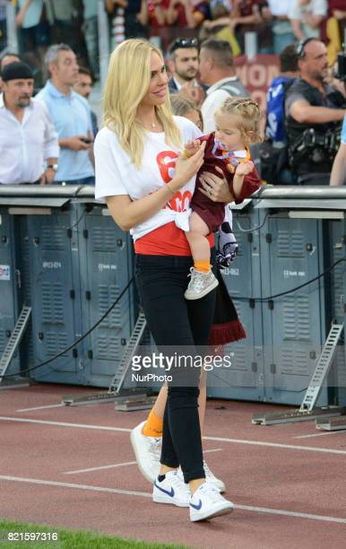 Ilary Blasi during the Italian Serie A football match between AS Roma and FC Genoa at the Olympic Stadium in Rome on may 28 2017