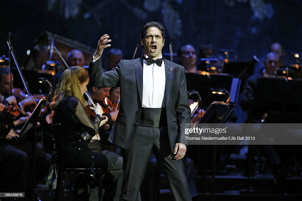 Ildebrando D'Arcangelo performs at the 'Red Ribbon Celebration Concert - United in Difference' at Burgtheater on May 24, 2013 in Vienna, Austria.