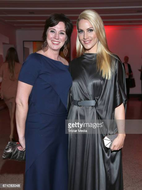 Ildiko von Kuerthy and german news anchor Judith Rakers during the Henri Nannen Award After Show Party on April 27 2017 in Hamburg Germany