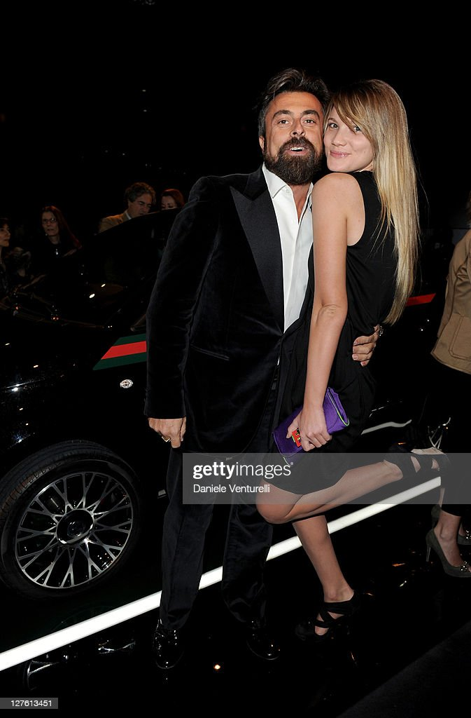 Ildo Damiano and Fiammetta Cicogna attend the 500 by Gucci launch party during the Milan fashion week womenswear Autumn/Winter 2011 on February 23, 2011 in Milan, Italy.