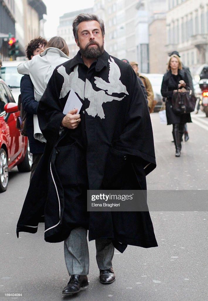Ildo Damiano during Milan Fashion week Menswear Autumn/Winter 2013 on January 12, 2013 in Milan, Italy.