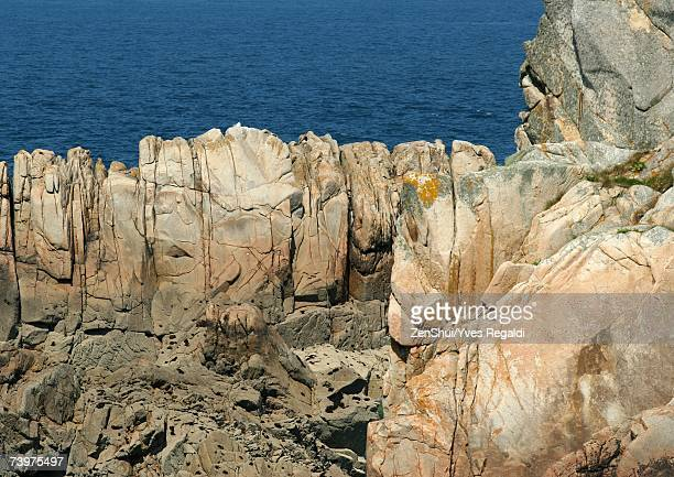 Ile de Brehat, Brittany, France, coastal rock formations