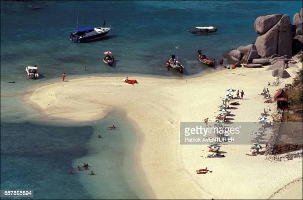 L'ile de Ko Nang Yuan en Thaïlande en juin 1998