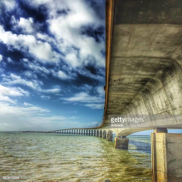 Ile de re bridge, La Rochelle, France