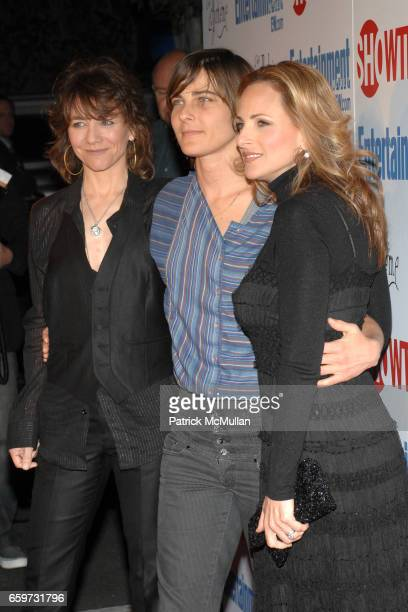 Ilene Chaiken Daniela Sea and Marlee Matlin attend SHOWTIME Bids Adieu To The Ladies Of The L Word at Cafe La Boheme on March 3 2009 in West...