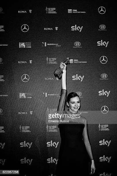 Ilenia Pastorelli attends the 60 David di Donatello Ceremony on April 18 2016 in Rome Italy