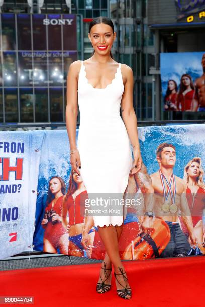 Ilfenesh Hadera attends the 'Baywatch' Photo Call in Berlin on May 30 2017 in Berlin Germany