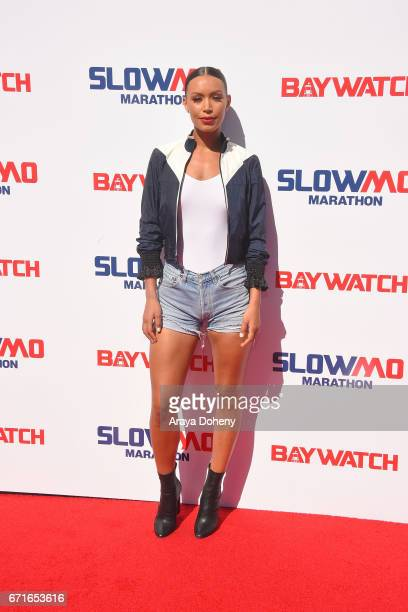 Ilfenesh Hadera attends the The 'Baywatch' SlowMo Marathon at Microsoft Square on April 22 2017 in Los Angeles California