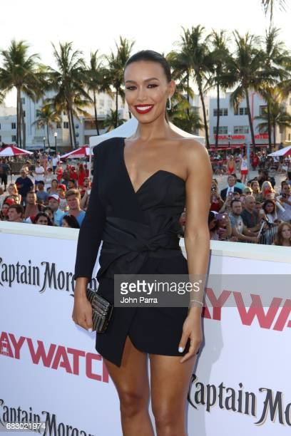 Ilfenesh Hadera attends the world premiere of Paramount Pictures film 'Baywatch' at South Beach on May 13 2017 in Miami Florida