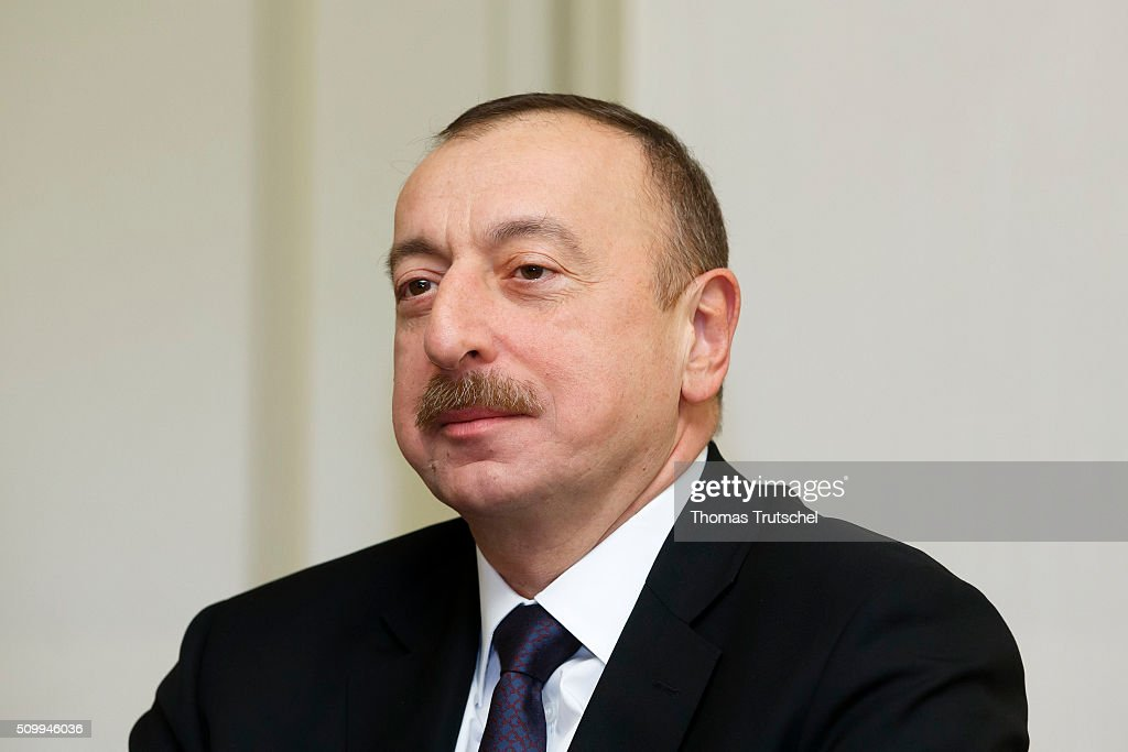Ilham Aliyev, President of Azerbaijan attends the 2016 Munich Security Conference at the Bayerischer Hof hotel on Februar 12, 2016 in Munich, Germany. The annual event brings together government representatives and security experts from across the globe and this year the conflict in Syria will be the main issue under discussion. (Photo by Thomas Trutschel/Photothek via Getty Images) Ilham Aliyev