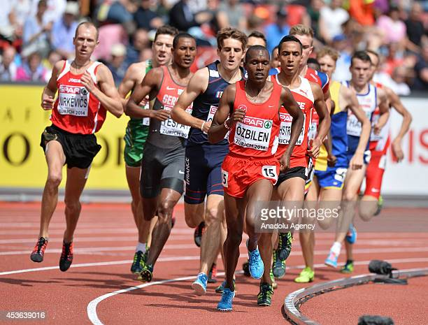 Ilham Tanui Ozbilen of Turkey competes in the the Men's 1500m Heats during day four of the 22nd European Athletics Championships at Letzigrund...