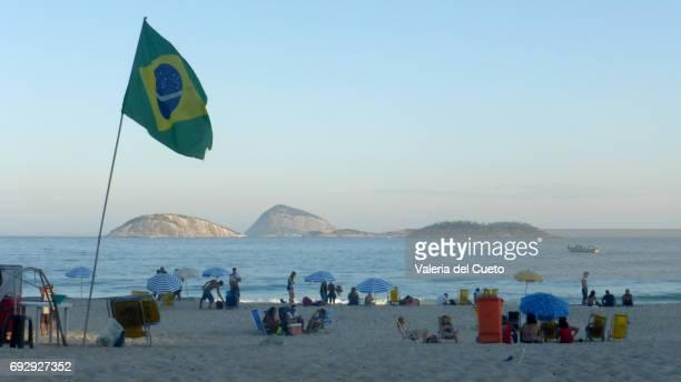 Ilhas e bandeira do Brasil: Ipanema