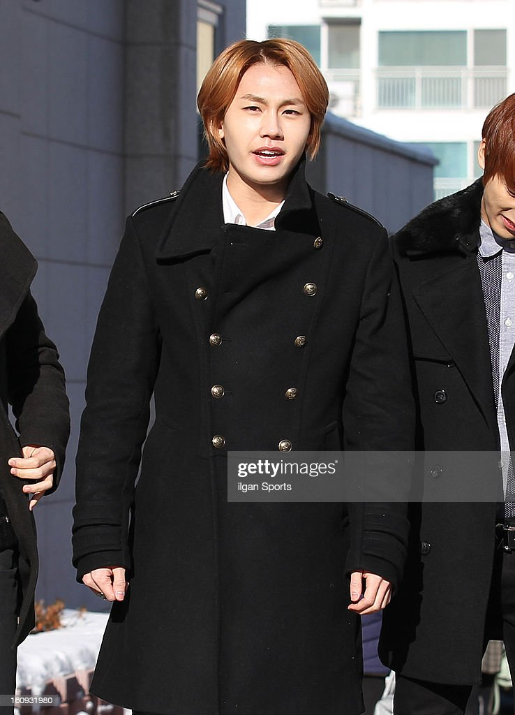 Il-Hoon of BTOB poses during Hanlim Multi Art School Graduation on February 7, 2013 in Seoul, South Korea.