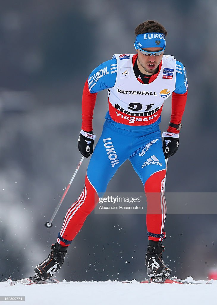 Ilia Chernousov of Russia in action during the Men's Cross Country Individual 15km at the FIS Nordic World Ski Championships on February 27, 2013 in Val di Fiemme, Italy.