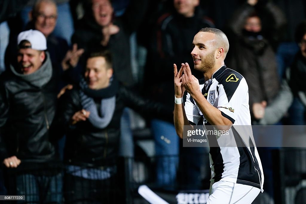 Iliass Bel Hassani of Heracles Almelo, during the Dutch Eredivisie match between Heracles Almelo and PEC Zwolle at Polman stadium on February 06, 2016 in Almelo, The Netherlands