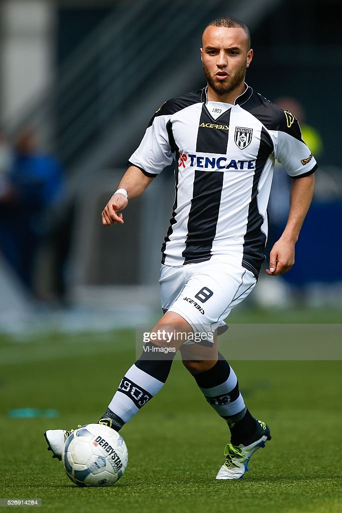 Iliass Bel Hassani of Heracles Almelo during the Dutch Eredivisie match between Heracles Almelo and ADO Den Haag at Polman stadium on May 01, 2016 in Almelo, The Netherlands
