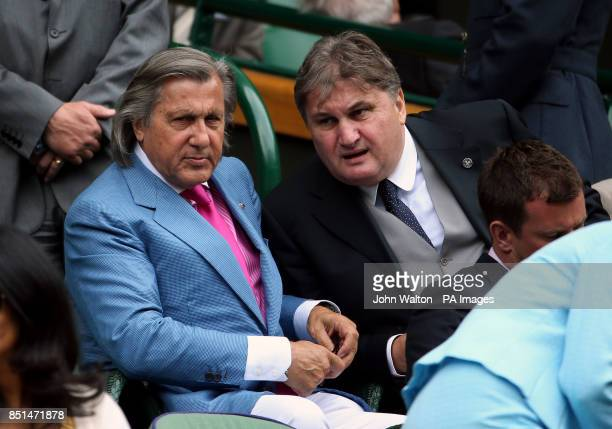 Ilie Nastase and Aurica Munteanu in the royal box during day seven of the Wimbledon Championships at The All England Lawn Tennis and Croquet Club...
