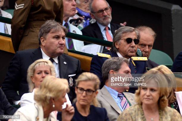 Ilie Nastase and Aurica Munteanu in the royal box