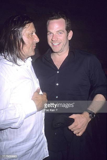 Ilie Nastase and Garou during Ilie Nastase 2006 Birthday Party June 10 2006 at Le Bound Club in Cannes France