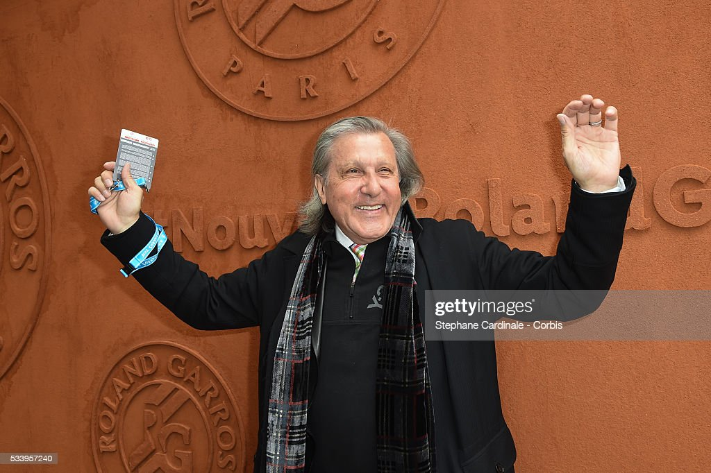 <a gi-track='captionPersonalityLinkClicked' href=/galleries/search?phrase=Ilie+Nastase&family=editorial&specificpeople=215468 ng-click='$event.stopPropagation()'>Ilie Nastase</a> attends the 2016 French tennis Open day 3, at Roland Garros on May 24, 2016 in Paris, France.