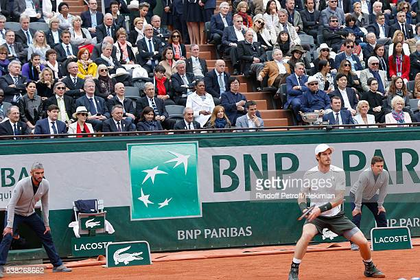 Ilie Nastase Deputy Director General of France Televisions for Sports Daniel Bilalian athlete MarieJosee Perec politician JeanVincent Place...