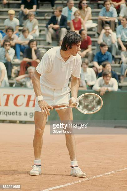 Ilie Nastase from Romania competes at Roland Garros French Open