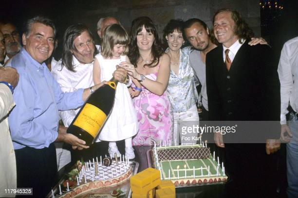 Ilie Nastase his Daughter his wife Amalia Henri Leconte Guillermo Villas and Guests