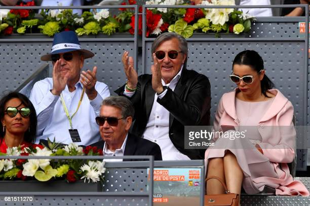 Ilie Nastase looks on during day five of the Mutua Madrid Open tennis at La Caja Magica on May 10 2017 in Madrid Spain