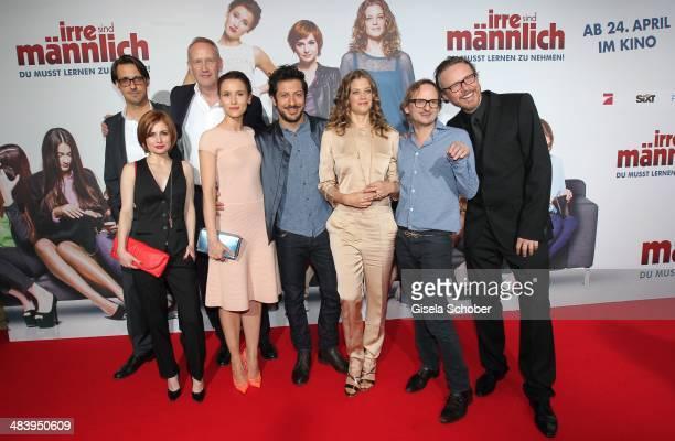Ilja Haller Josefine Preuss Philip Voges Peri Baumeister Fahri Yardim Marie Baeumer Milan Peschel Anno Saul attend the premiere of the film 'Irre...