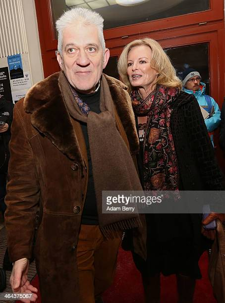Ilja Richter and Claudia Neidig arrive for the premiere of the film 'Der Prediger' at Babylon on January 22 2014 in Berlin Germany