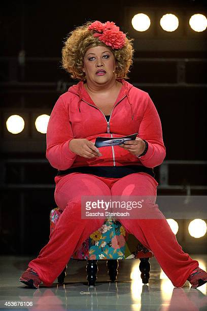 Ilka Bessin better known as comedienne Cindy aus Marzahn attends the first live show of Promi Big Brother at Coloneum on August 15 2014 in Cologne...