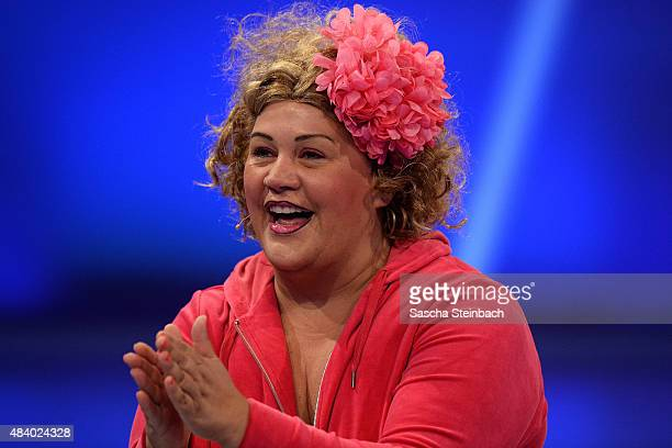 Ilka Bessin better known as comedienne Cindy aus Marzahn attends the first live show of Promi Big Brother 2015 at MMC studios on August 14 2015 in...