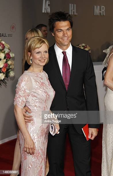Ilka Essmueller and husband Boris Buettner attend the 'Rosenball' at Hotel Intercontinental on June 9 2012 in Berlin Germany