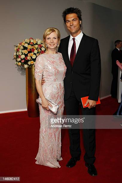 Ilka Essmueller and partner attend the Rosenball at Hotel Intercontinental on June 9 2012 in Berlin Germany