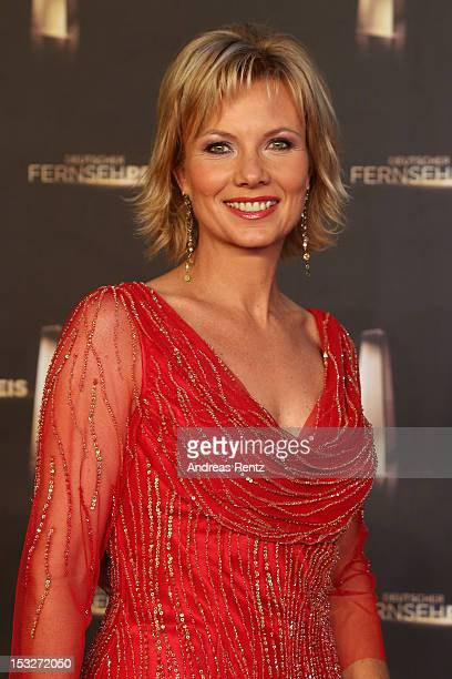 Ilka Essmueller arrives for the German TV Award 2012 at Coloneum on October 2 2012 in Cologne Germany