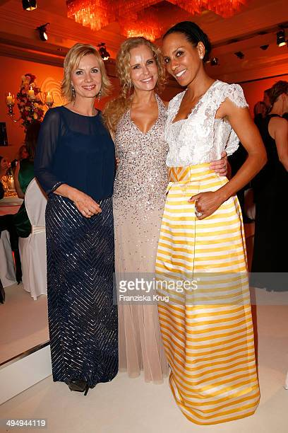 Ilka Essmueller Katja Burkard and Barbara Becker attend the Rosenball 2014 on May 31 2014 in Berlin Germany