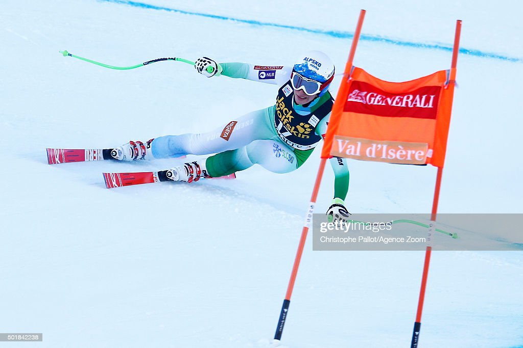 Ilka Stuhec of Slovenia competes during the Audi FIS Alpine Ski World Cup Women's Combined on December 18, 2015 in Val d'Isere, France.