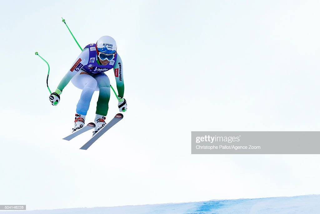 Ilka Stuhec of Slovenia competes during the Audi FIS Alpine Ski World Cup Women's Downhill on January 09, 2016 in Altenmarkt-Zauchensee, Austria.