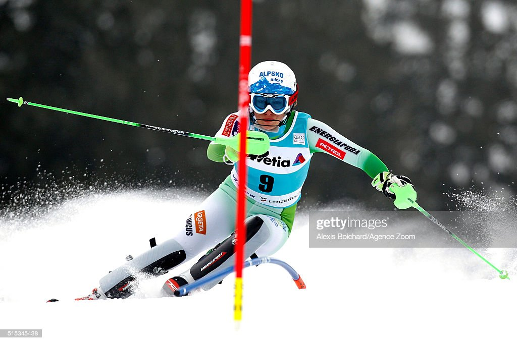 Ilka Stuhec of Slovenia competes during the Audi FIS Alpine Ski World Cup Women's Super Combined on March 13, 2016 in Lenzerheide, Switzerland.