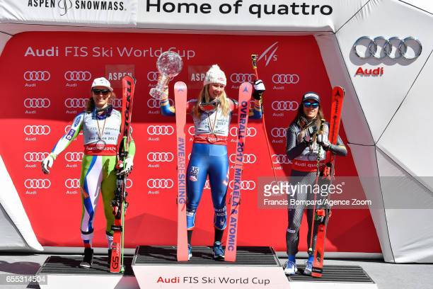 Ilka Stuhec of Slovenia takes 2nd place in the overall standings Mikaela Shiffrin of USA wins the globe in the overall standings Sofia Goggia of...