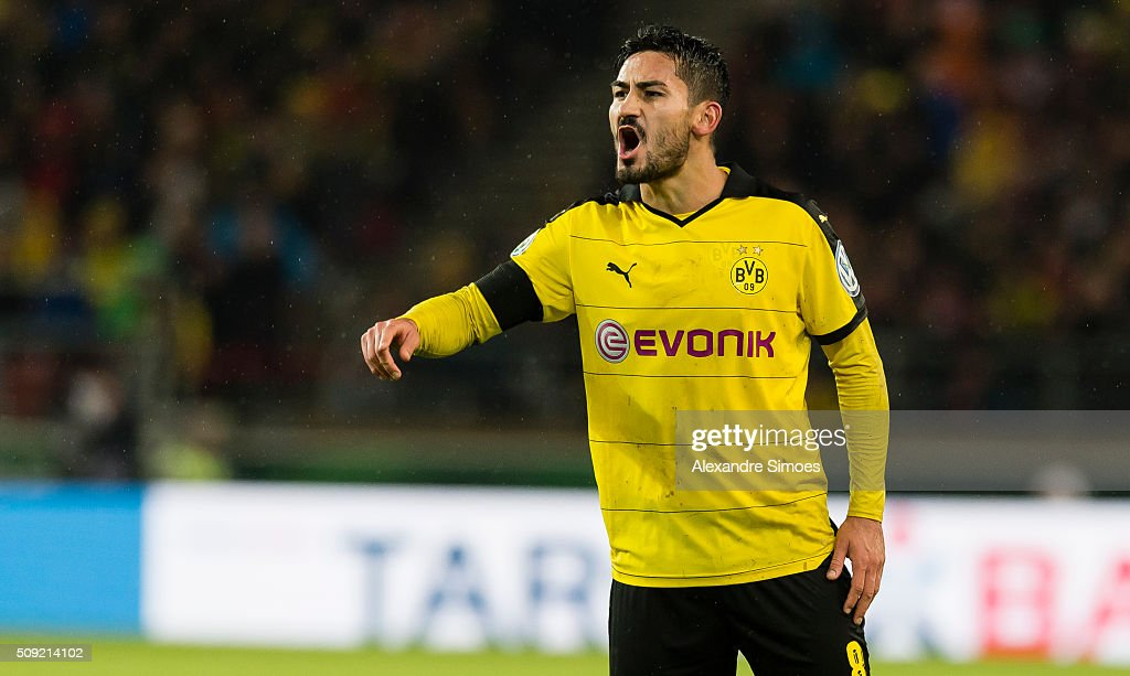 Ilkay Guendogan of Borussia Dortmund during the DFB Cup match between VfB Stuttgart and Borussia Dortmund at Mercedes-Benz Arena on February 09, 2016 in Stuttgart, Germany.