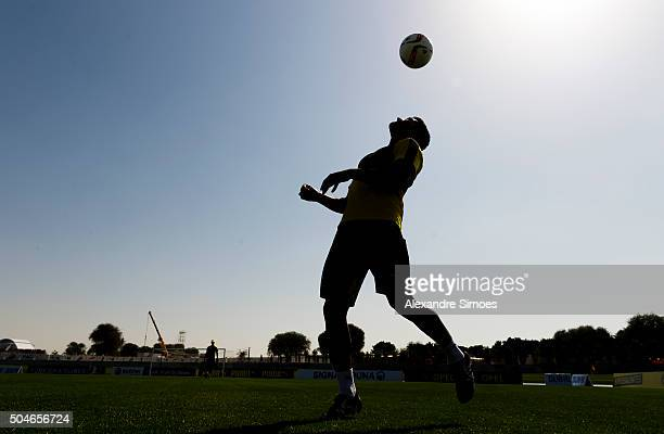 Ilkay Guendogan of Borussia Dortmund in a training session during Borussia DortmundÕs training camp at Dubai Nad Al Sheba Sports Complex on January...