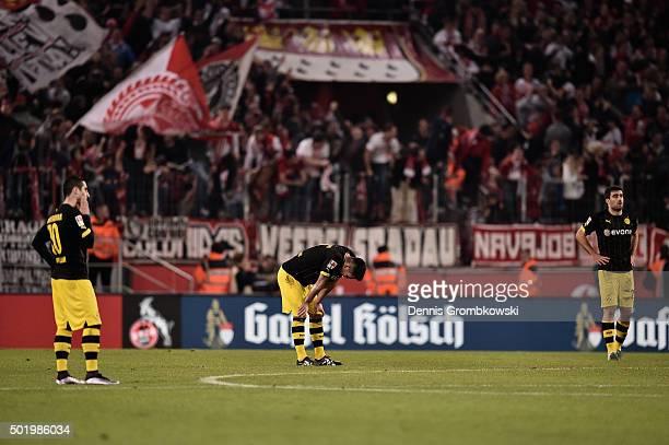 Ilkay Guendogan of Borussia Dortmund reacts during the Bundesliga match between 1 FC Koeln and Borussia Dortmund at RheinEnergieStadion on December...