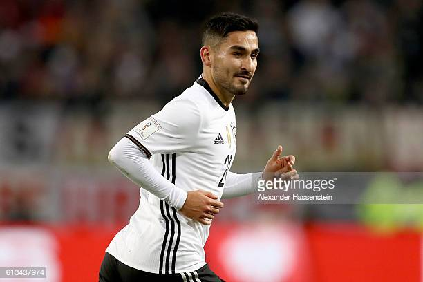 Ilkay Guendogan of Germany runs during the 2018 FIFA World Cup Qualifier match between Germany and Czech Republic at Volksparkstadion on October 8...