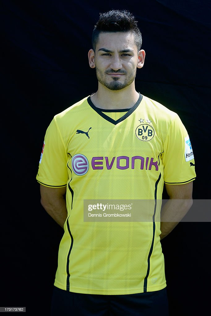 Ilkay Guendogan poses during the Borussia Dortmund Team Presentation at Brackel Training Ground on July 9, 2013 in Dortmund, Germany.