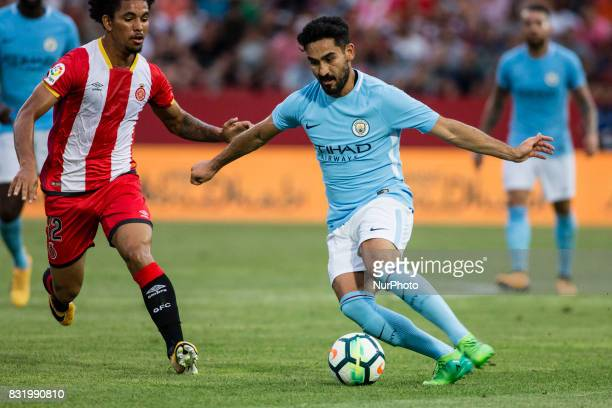 08 Ilkay Gundogan from Germany of Manchester City during the Costa Brava Trophy match between Girona FC and Manchester City at Estadi de Montilivi on...