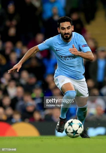Ilkay Gundogan of Manchester City in action during the UEFA Champions League group F match between Manchester City and Feyenoord at Etihad Stadium on...