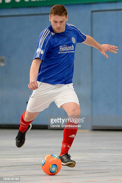 Ilker Yueksel of Holstein Kiel controls the ball during the DFB C Juniors Futsal Cup on March 24 2013 in Bergkamen Germany